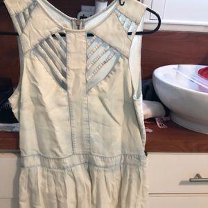 Rachel Roy Acid wash denim dress small